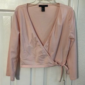 Pink ballet wrap top XL